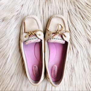 Sperry Top-Sider Pink Leather Boat Shoe Loafers